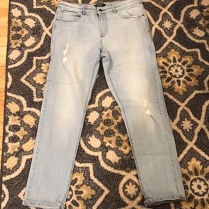 Simply Be Distressed Faded Jeans Size 10 EUC